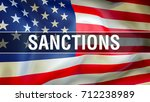sanctions on usa. usa sanctions.... | Shutterstock . vector #712238989