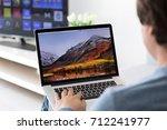 alushta  russia   june 8  2017  ... | Shutterstock . vector #712241977