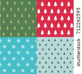 seamless pattern with christmas ... | Shutterstock .eps vector #712242595