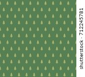 seamless pattern with christmas ... | Shutterstock .eps vector #712245781