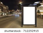 blank advertising billboard on... | Shutterstock . vector #712252915