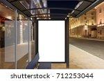 blank advertising billboard on...   Shutterstock . vector #712253044