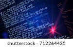 big data and computer... | Shutterstock . vector #712264435