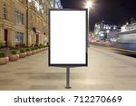 blank street billboard at night ... | Shutterstock . vector #712270669
