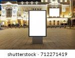 blank street billboard at night ... | Shutterstock . vector #712271419
