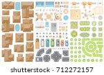 set of landscape elements.... | Shutterstock .eps vector #712272157