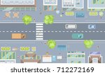vector illustration. cityscape... | Shutterstock .eps vector #712272169