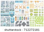 set of landscape elements.... | Shutterstock .eps vector #712272181