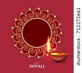 happy diwali  vector...   Shutterstock .eps vector #712272661