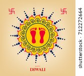 happy diwali wallpaper design... | Shutterstock .eps vector #712272664