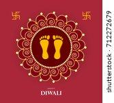 happy diwali  vector... | Shutterstock .eps vector #712272679