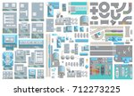 set of landscape elements. city ... | Shutterstock .eps vector #712273225