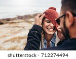 close up portrait of smiling... | Shutterstock . vector #712274494