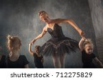 beautiful dark haired russian... | Shutterstock . vector #712275829