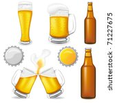 set of beer vector illustration ... | Shutterstock .eps vector #71227675
