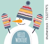 template greeting card and... | Shutterstock .eps vector #712277971