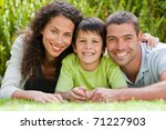 little boy with his parents... | Shutterstock . vector #71227903