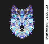 wolf low poly portrait.... | Shutterstock .eps vector #712280665