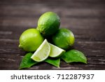lime juice with lime slices on... | Shutterstock . vector #712287937