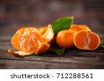 mandarins. tangerines close up... | Shutterstock . vector #712288561