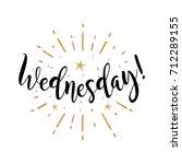 wednesday. beautiful greeting... | Shutterstock .eps vector #712289155