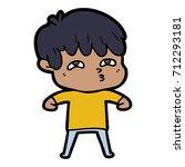 cartoon curious man | Shutterstock .eps vector #712293181