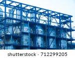 oil refineries in the night | Shutterstock . vector #712299205