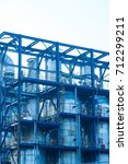 oil refineries in the night | Shutterstock . vector #712299211