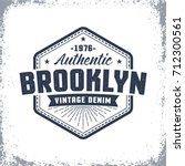 brooklyn vintage logo with... | Shutterstock .eps vector #712300561
