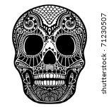 skull ornament | Shutterstock .eps vector #71230507