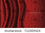 traditional red chinese silk... | Shutterstock .eps vector #712305424