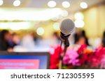 microphone soft focus on blur... | Shutterstock . vector #712305595