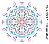 mandala for relaxation. rainbow ...   Shutterstock .eps vector #712305769