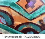 painted colorful tribal pattern ... | Shutterstock . vector #712308007