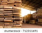 wood factory stock and lumber... | Shutterstock . vector #712311691