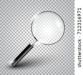 realistic magnifying glass... | Shutterstock .eps vector #712316971