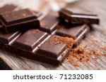 chopped chocolate with cocoa | Shutterstock . vector #71232085