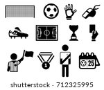 football soccer icons | Shutterstock .eps vector #712325995