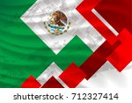 mexico flag concept background... | Shutterstock .eps vector #712327414