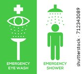 emergency eye wash and... | Shutterstock .eps vector #712343089