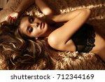 fashion interior photo of... | Shutterstock . vector #712344169