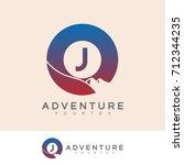 adventure initial letter j logo ... | Shutterstock .eps vector #712344235