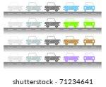 mini car | Shutterstock .eps vector #71234641