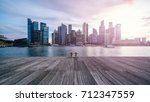 beautiful sunset in singapore  | Shutterstock . vector #712347559