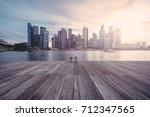 beautiful sunset in singapore  | Shutterstock . vector #712347565