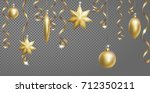 christmas seamless border... | Shutterstock .eps vector #712350211