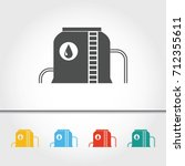 fuel and oil tank storage... | Shutterstock .eps vector #712355611
