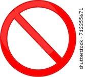 no  stop  sign | Shutterstock .eps vector #712355671