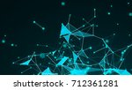 abstract polygonal space... | Shutterstock . vector #712361281