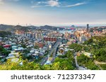 keelung city  taiwan skyline at ... | Shutterstock . vector #712373347